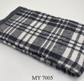 Khăn Tắm Kẻ Cotton Mỹ - Ghi kẻ to (70x140 - 350gr)