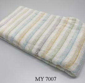 Khăn Tắm Kẻ Cotton Mỹ - Sọc vàng xanh (70x140 - 350gr)