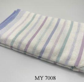 Khăn Tắm Kẻ Cotton Mỹ - Sọc xanh tím (70x140 - 350gr)