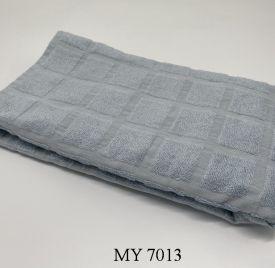 Khăn Tắm Kẻ Cotton Mỹ - Ghi (70x140 - 350gr)