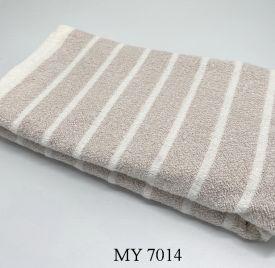 Khăn Tắm Kẻ Cotton Mỹ - Sọc nâu (70x140 - 350gr)