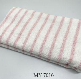 Khăn Tắm Kẻ Cotton Mỹ - Sọc hồng (70x140 - 350gr)