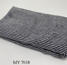 Khăn Tắm Kẻ Cotton Mỹ - Sọc đen (70x140 - 350gr)