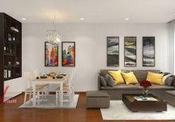 Thiết kế phòng khách & bếp - chị Bích