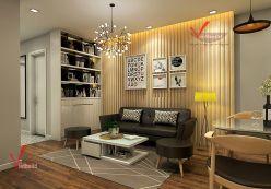 Thiết kế chung cư diện tích nhỏ - Khách hàng anh Diện