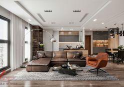 Thiết kế nội thất chung cư Ciputra 90m2 - anh Hưng