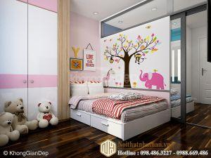 Mẫu phòng ngủ bé gái NH18