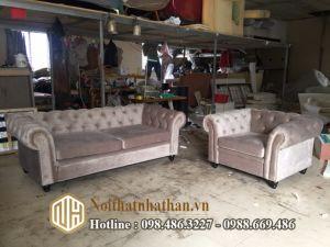 Sofa da nỉ NHDN11