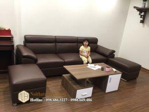 Sofa da nỉ NHDN19