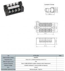 Cầu đấu dây 20A 4P (HFTB-204)