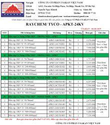 Đầu cáp co nóng hãng Raychem/ Tyco/ Asia (APKT-24kV)