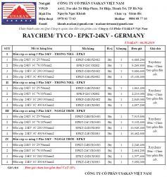 Đầu cáp co nóng 24kV - Raychem/ Tyco/ EU (EPKT-24kV)
