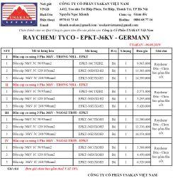 Đầu cáp co nóng 36kV - Raychem/ Tyco/ EU (EPKT-36kV)