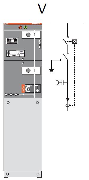 Ngăn máy cắt 24kV 20kA/1s, rơ le REF603, biến dòng CT2-CT5 (=V= 325)