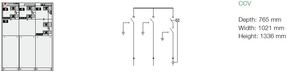CCV-24kV - Biến dòng CT2 đến CT5. Rơ le tự cấp nguồn REJ603
