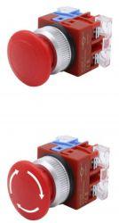 Nút dừng khẩn cấp 1 cặp tiếp điểm phụ, tự để Reset (HC25E-1)