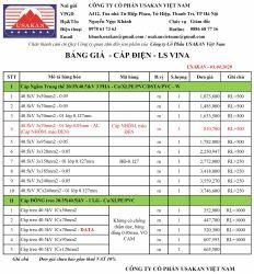 Cáp 40.5kV LS Vina - Bảng giá Usakan 01.04.2020