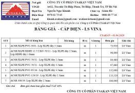 Bảng giá ACSR - LS Vina - 01.04.2020