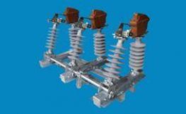 Cầu dao phụ tải ngoài trời chém đứng - Sứ cách điện silicone - 40.5kV 630A - LBS-2-3 - Vina Electric