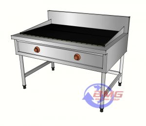 Bếp nướng than nhân tạo có chân đứng