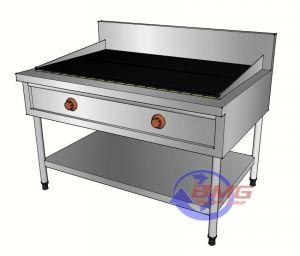 Bếp nướng than nhân tạo có 1 giá dưới