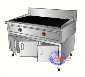 Bếp nướng than nhân tạo có tủ dưới