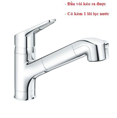 Vòi rửa bát nóng lạnh Inax JF-AB466SYX (JW) (dây rút)