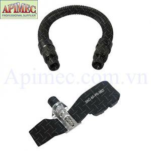 Ống xoắn giảm âm và điều áp khí thở có dây đai