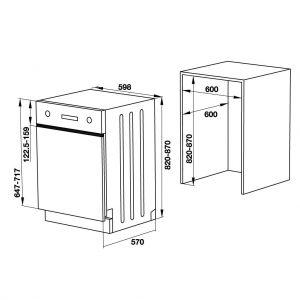 Máy Rửa Chén Âm Bán Phần HDW-HI60C Hafele 533.23.120