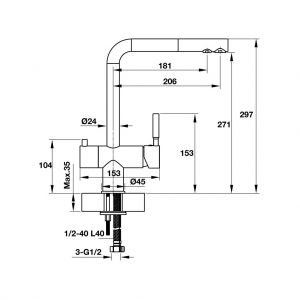 Vòi Rửa HT19-CH2P271 Hafele 570.51.060