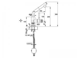 Vòi Rửa HT19-CH1P240 Hafele 570.51.040