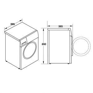 Máy Giặt 8Kg HW-F60B Hafele 538.91.530