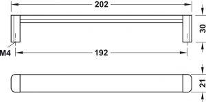Tay Nắm Tủ CC192 Mạ Crom H1365 Hafele 106.69.217