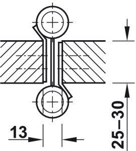 Bản Lề Bật 2 Chiều 4'' Hafele 927.97.020