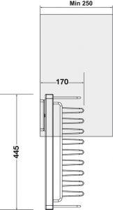 Móc Treo Dây Nịt & Cà Vạt 250mm Hafele 807.96.110