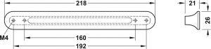 Tay Nắm Tủ Màu Đồng Cổ D18mm Hafele 106.61.164