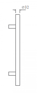 Tay Nắm Cửa Kính D1200mm Imundex 714.19.175