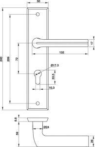 Tay Nắm Gạt Đế Dài C/C 72mm Hafele 903.98.464