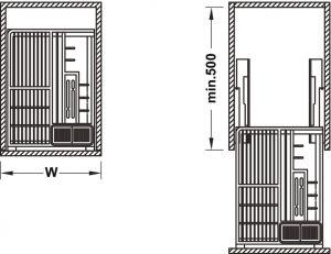 Bộ Rổ Đa Năng Rome Series 400mm Hafele 549.34.055