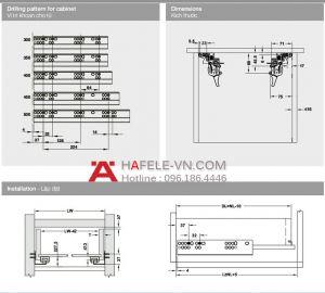Ray Âm EPC Pro Giảm Chấn 350mm Hafele 433.32.052