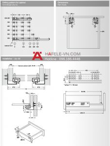 Ray Âm Giảm Chấn Mở Toàn Phần 300mm Hafele 433.03.102