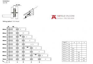 Ray Bi Không Giảm Chấn 300mm Hafele 494.02.461