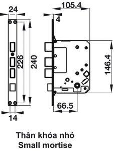 Khóa Điện Tử Thân Nhỏ EL7500-TC Hafele 912.05.716