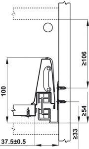 Ray Hộp Alto Giảm Chấn H135mm Hafele 552.77.085