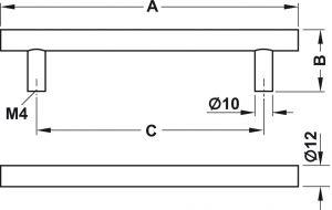 Tay Nắm Tủ Inox 168mm Hafele 155.01.401