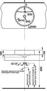 Bồn Rửa Đặt Bàn Compact Hafele 588.82.011