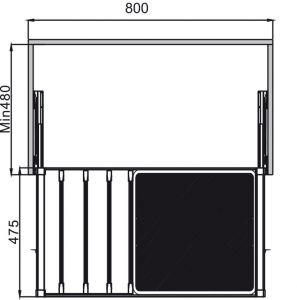 Móc Treo Quần Kèm Giỏ 800mm Hafele 807.95.831