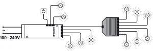 Bộ Chia 6 Đèn Hệ 12V Hafele 833.74.798