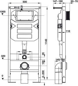 Két Nước Âm Mechanical 1140 Hafele 588.73.920