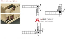 Phụ Kiện Cửa Trượt Tủ Slido Classic 10/A IF Hafele 494.00.140